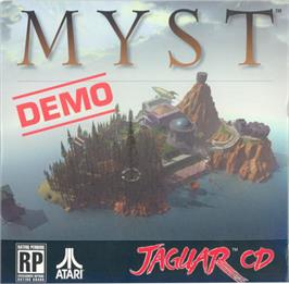 Box cover for Myst Demo on the Atari Jaguar CD.