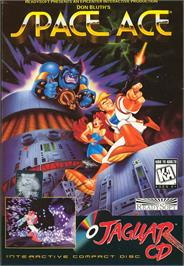 Box cover for Space Ace on the Atari Jaguar CD.