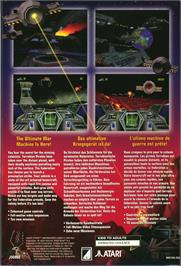 Box back cover for Hover Strike Unconquered Lands on the Atari Jaguar CD.
