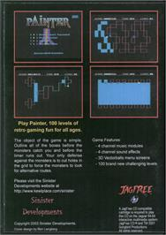 Box back cover for Painter on the Atari Jaguar CD.