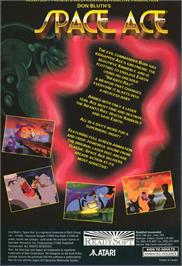 Box back cover for Space Ace on the Atari Jaguar CD.