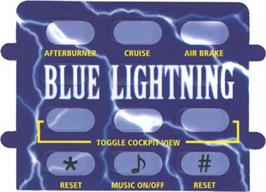 Overlay for Blue Lightning on the Atari Jaguar CD.