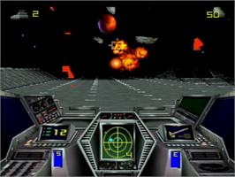 In game image of Hover Strike Unconquered Lands on the Atari Jaguar CD.