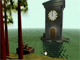 In game image of Myst on the Atari Jaguar CD.