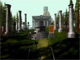 In game image of Myst Demo on the Atari Jaguar CD.