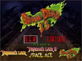 Title screen of BrainDead 13 on the Atari Jaguar CD.