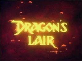 Title screen of Dragon's Lair on the Atari Jaguar CD.