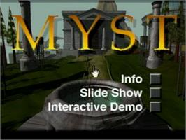 Title screen of Myst Demo on the Atari Jaguar CD.