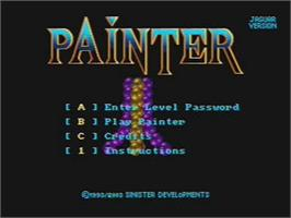 Title screen of Painter on the Atari Jaguar CD.