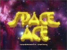 Title screen of Space Ace on the Atari Jaguar CD.