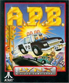 Box cover for APB: All Points Bulletin on the Atari Lynx.