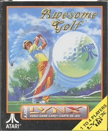 Box cover for Awesome Golf on the Atari Lynx.