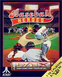 Box cover for Baseball Heroes on the Atari Lynx.