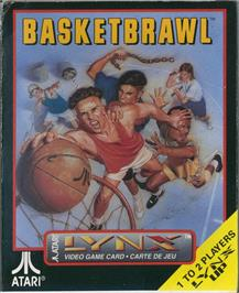 Box cover for Basketbrawl on the Atari Lynx.