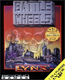 Box cover for BattleWheels on the Atari Lynx.