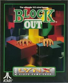 Box cover for Blockout on the Atari Lynx.