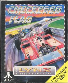 Box cover for Checkered Flag on the Atari Lynx.