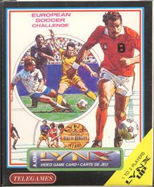 Box cover for European Soccer Challenge on the Atari Lynx.