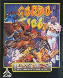 Box cover for Gordo 106: The Mutated Lab Monkey on the Atari Lynx.