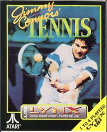 Box cover for Jimmy Connors Pro Tennis Tour on the Atari Lynx.