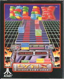 Box cover for Klax on the Atari Lynx.