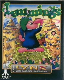 Box cover for Lemmings on the Atari Lynx.