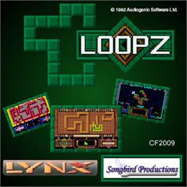 Box cover for Loopz on the Atari Lynx.