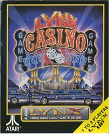 Box cover for Lynx Casino on the Atari Lynx.