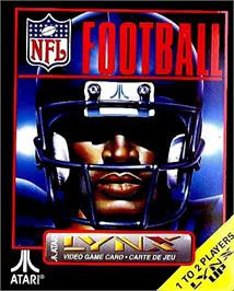 Box cover for NFL Football on the Atari Lynx.