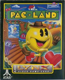 Box cover for Pac-Land on the Atari Lynx.