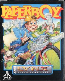 Box cover for Paperboy on the Atari Lynx.