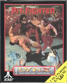 Box cover for Pit-Fighter on the Atari Lynx.