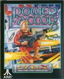 Box cover for Power Factor on the Atari Lynx.