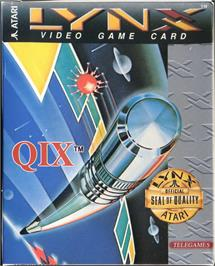 Box cover for QIX on the Atari Lynx.