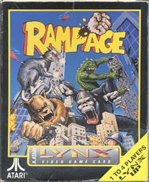 Box cover for Rampage on the Atari Lynx.