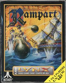 Box cover for Rampart on the Atari Lynx.