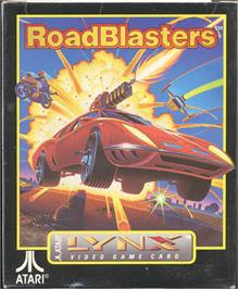 Box cover for RoadBlasters on the Atari Lynx.