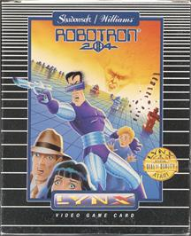 Box cover for Robotron: 2084 on the Atari Lynx.
