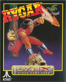 Box cover for Rygar on the Atari Lynx.