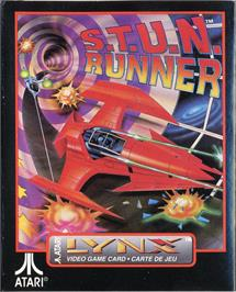 Box cover for S.T.U.N. Runner on the Atari Lynx.