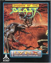 Box cover for Shadow of the Beast on the Atari Lynx.