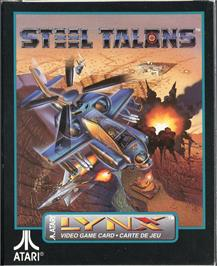 Box cover for Steel Talons on the Atari Lynx.