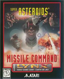 Box cover for Super Asteroids and Missile Command on the Atari Lynx.