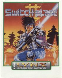 Box cover for Switchblade II on the Atari Lynx.