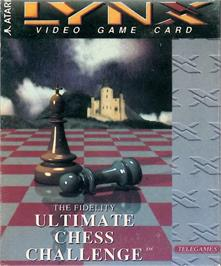 Box cover for The Fidelity Ultimate Chess Challenge on the Atari Lynx.