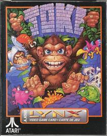 Box cover for Toki: Going Ape Spit on the Atari Lynx.