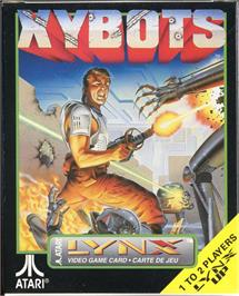 Box cover for Xybots on the Atari Lynx.