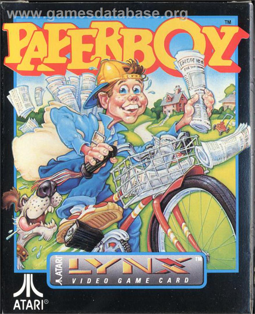 Paperboy - Atari Lynx - Artwork - Box