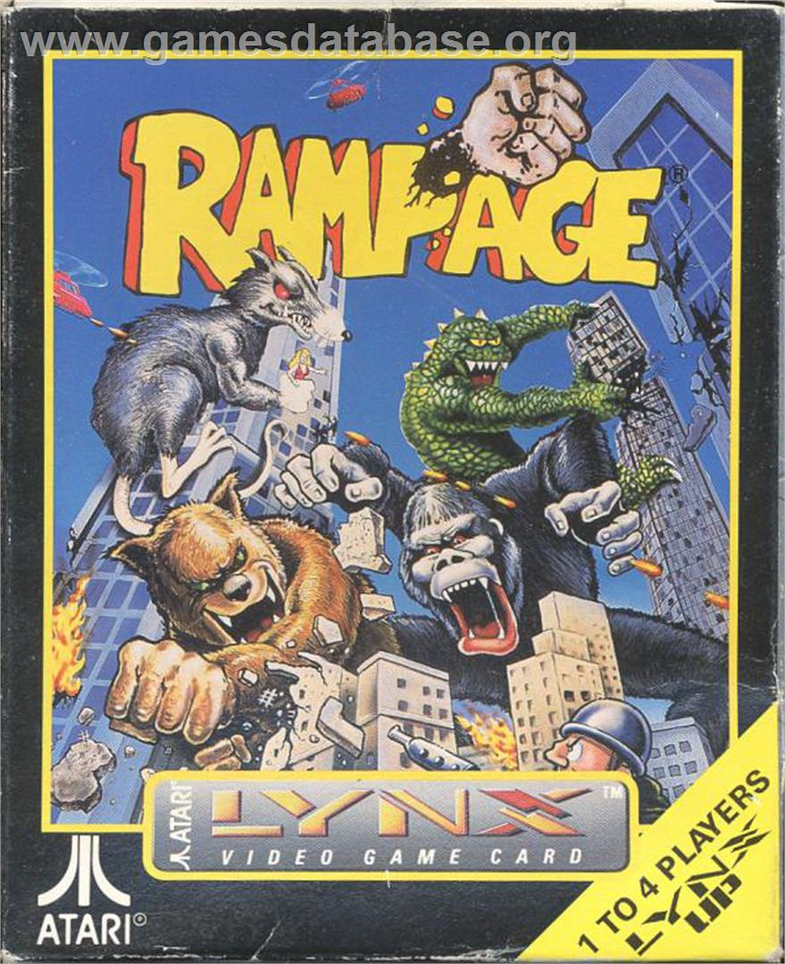 Rampage - Atari Lynx - Artwork - Box