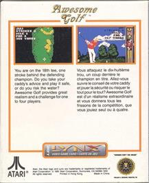 Box back cover for Awesome Golf on the Atari Lynx.